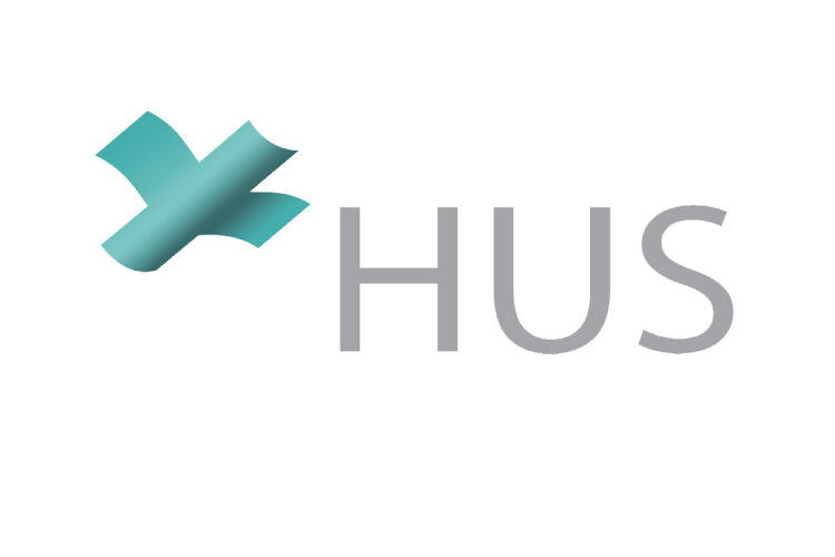 Logo of HUS, the hospital district of Helsinki and Uusimaa
